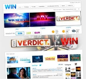 Web Design for WIN Television