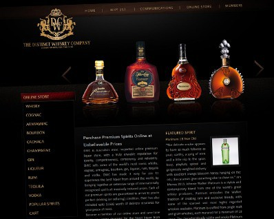 Distinct Whiskey Company Online Store