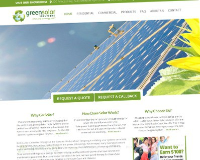 Green Solar Solutions Web Development